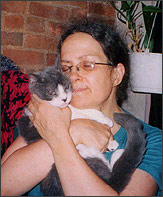 Carol Chapin with Cat