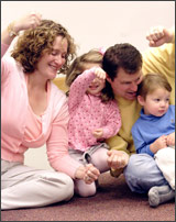 Family at music class